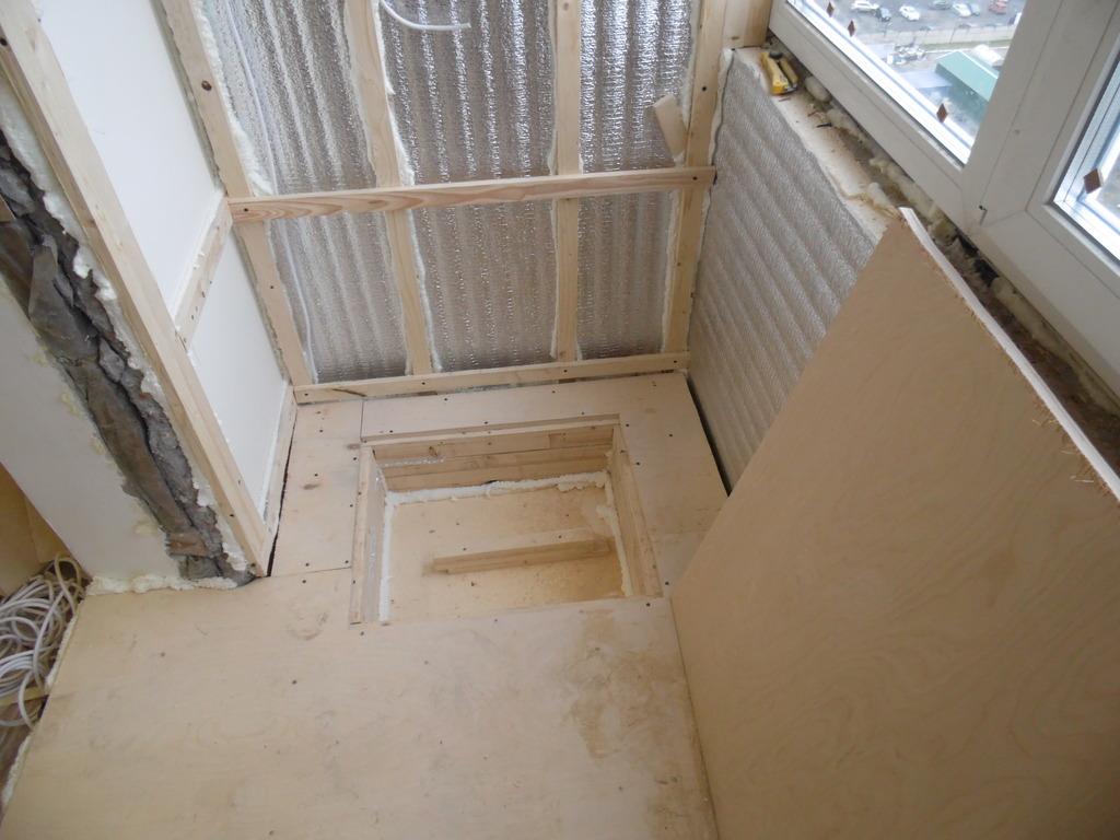 Как уложить пенофол внутри лоджии. - ставим балконный блок -.